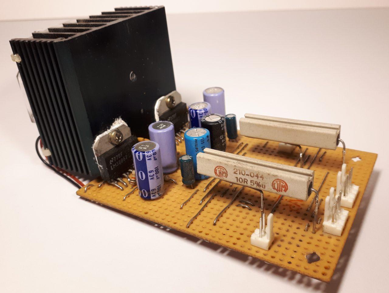 Jukebox amplifier component side