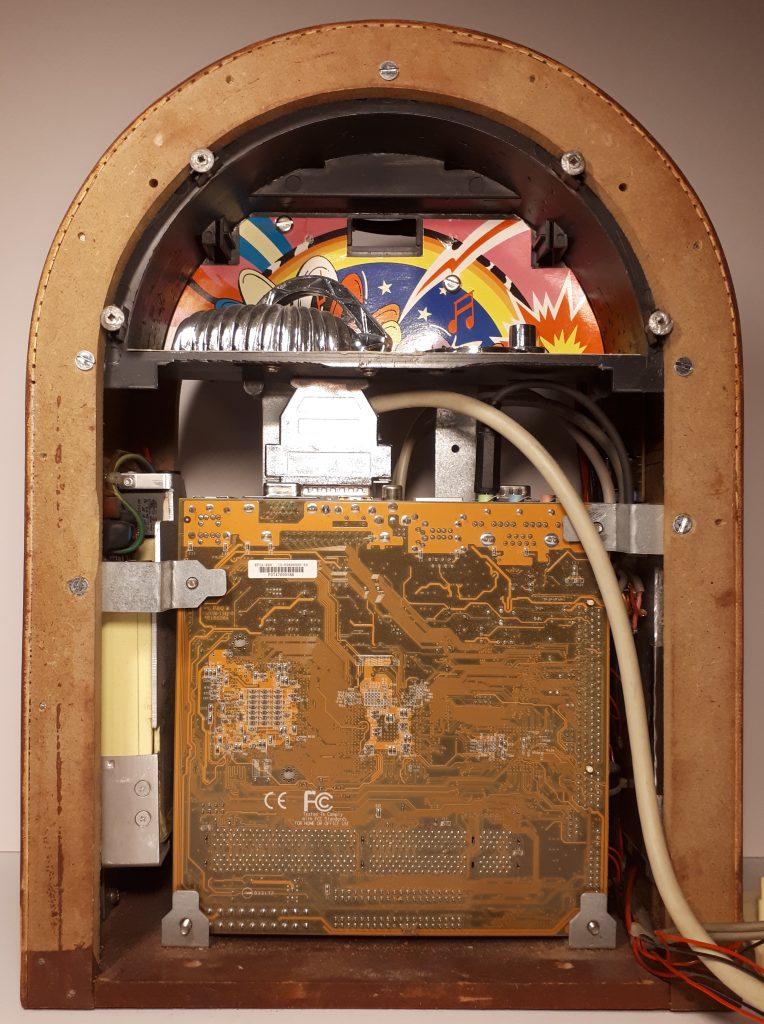 Jukebox front inside