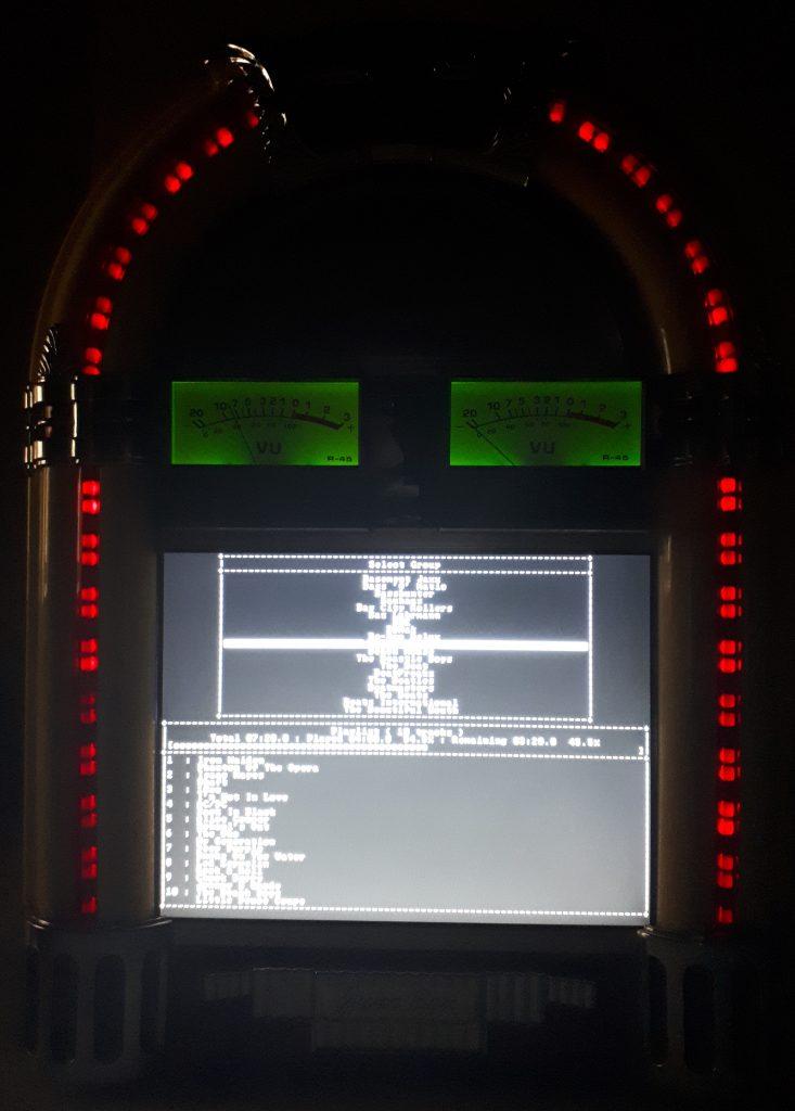 Jukebox running in the dark