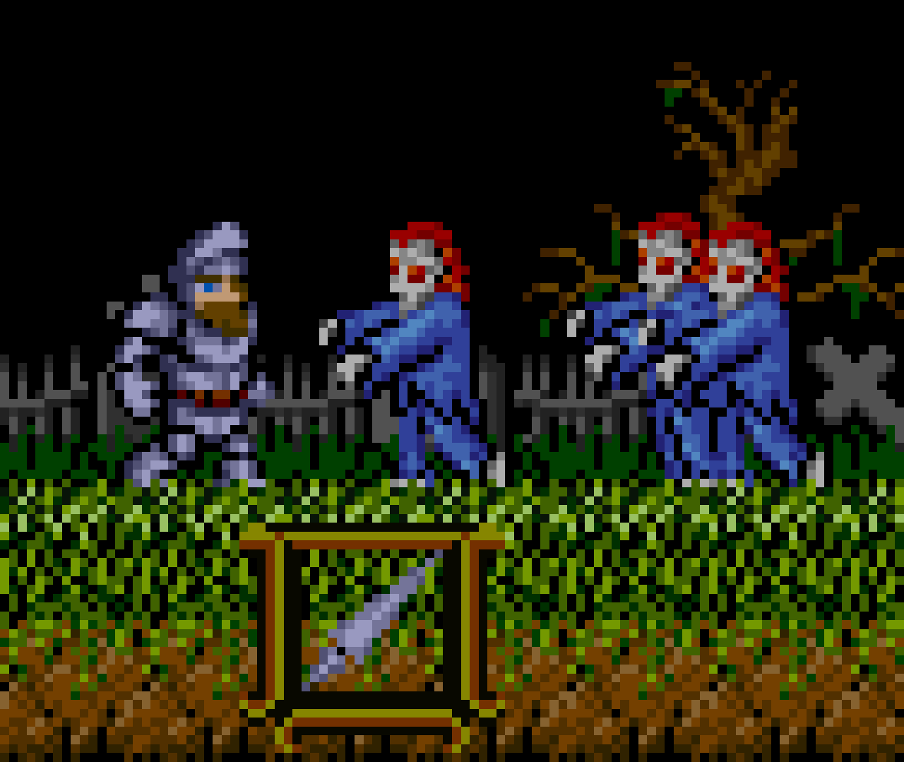 Ghosts 'n Goblins LCD close up