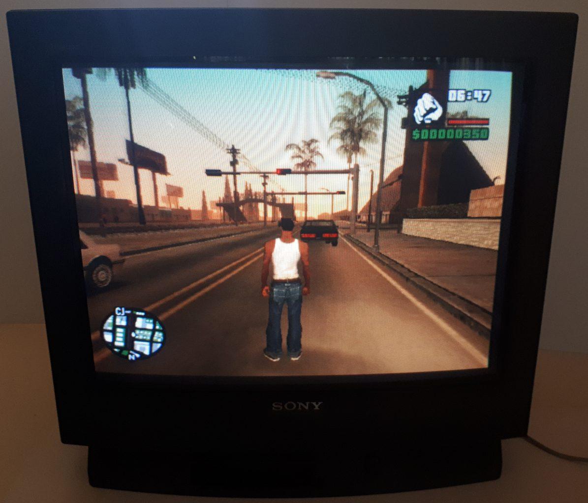 Grand Theft Auto San Andreas CRT