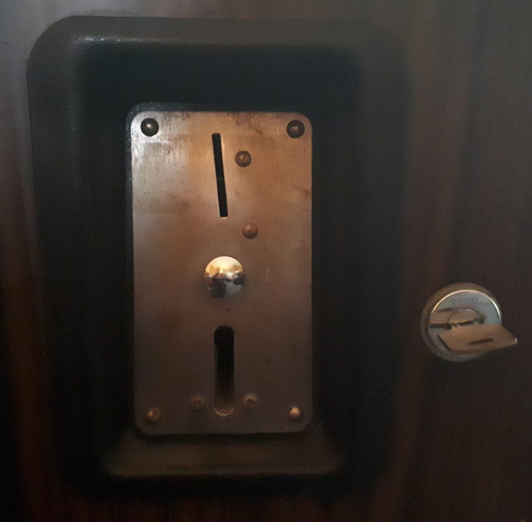 Space Invaders coin door